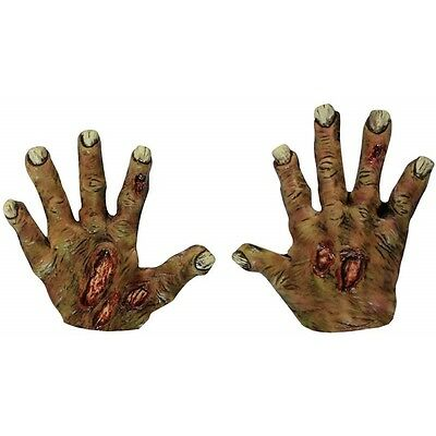 Zombie Rotting Hands Latex Gloves Scary Halloween Fancy Dress