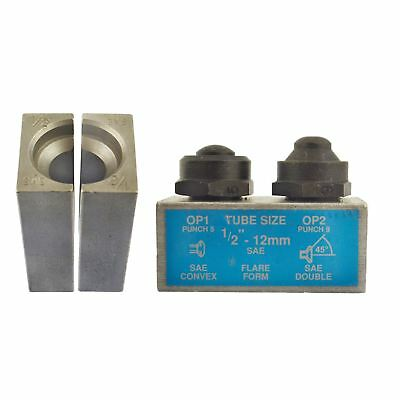 """1/2"""" SAE Brake Pipe Flaring Flare Tool Punch And Die Single / Double IRE"""