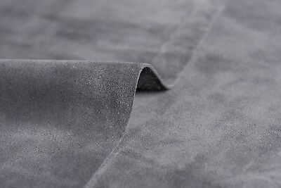 Suede Lux Italian Leather Cowhide Grey Pieces Made In Italy Craft