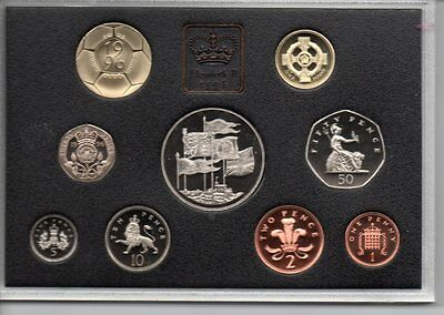 1996 QEII ( 70th birthday) 9 coin set in a DELUXE RED CASE