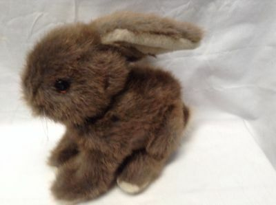 "Dakin Plush Bunny Rabbit 1986 Vintage 11"" Lgth VGC CUTE"