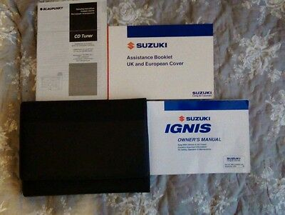 Suzuki Ignis Owners Handbook/Manual and Wallet 04-07