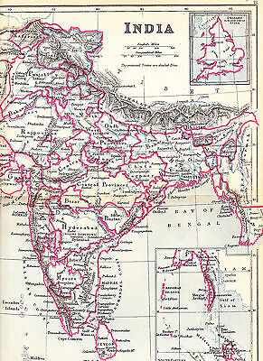 'INDIA'  MAP by EDWARD WELLER [21] - 1897