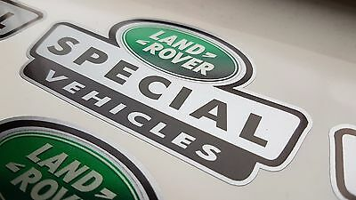 3 x Silver Ltd ED Land Rover Special Vehicle Stickers Defender Disco 90 110 TD5