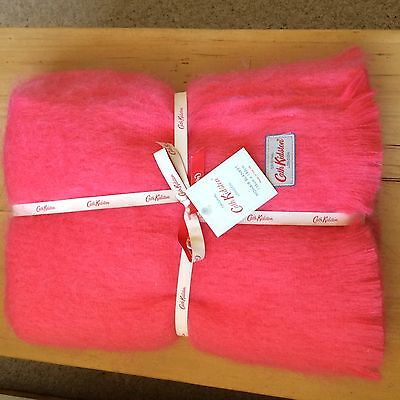 CATH KIDSTON  CORAL PINK MOHAIR BLANKET  135 X 180 cm  BRAND NEW WITH TAGS