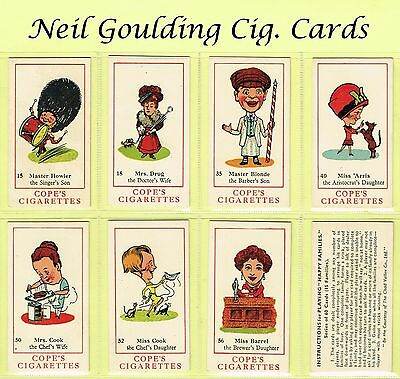 Cope Bros - Happy Families 193 #1 to #60 Cigarette Cards
