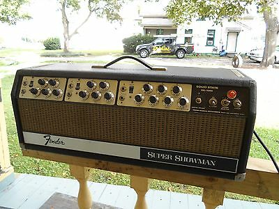 Vintage Fender Super Showman SS-1000 Amplifier Reverb & Tremelo Head Only