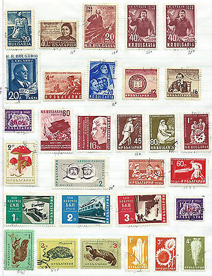 Bulgaria - 55 stamps mixed - Years 1948 to 1967