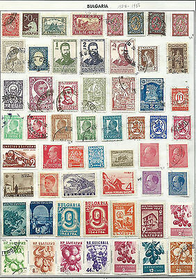Bulgaria - 57 old stamps mixed - Years 1911 to 1957