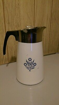 Blue Cornflower 9 Cup Stove Top Percolator Coffee maker Pot Complete