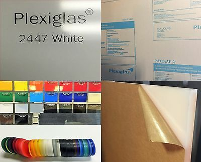 "WHITE PLEXIGLASS ACRYLIC SHEET COLOR #2447 1/2"" x 12"" x 24"" (Qty:4)"