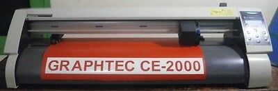 "GRAPHTEC CE 2000-60 24"" plotter vinyl sign decal cutter & FlexiSign Basic 6.6v1"