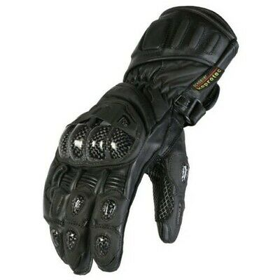 Neuf Homme Noir Cuir Moto Protection Gants Racing Tailles S-2XL