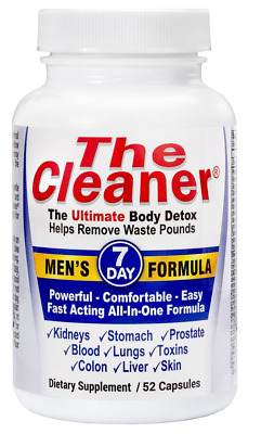 Century System's The Cleaner Men's Formula 7 Day Ultimate Body Detox (52 Caps)