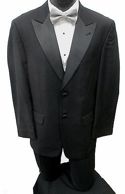 Black Joseph Abboud Tuxedo Jacket with Pants Prom Wedding Mason Cheap Tuxedo Set