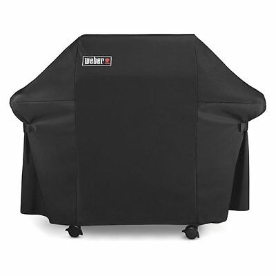 Weber 7107 Grill Cover with Storage Bag for Genesis 300 Series Gas Grills