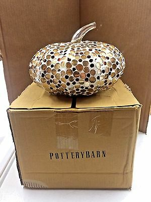 POTTERY BARN Mercury Mirror & Grout Pumpkin, LARGE, NEW IN BOX
