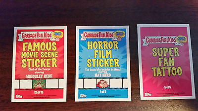 30Th Anniversary Gpk Cards Pick 4 For $1.00 From Tattoo / Horror / Famous Movie