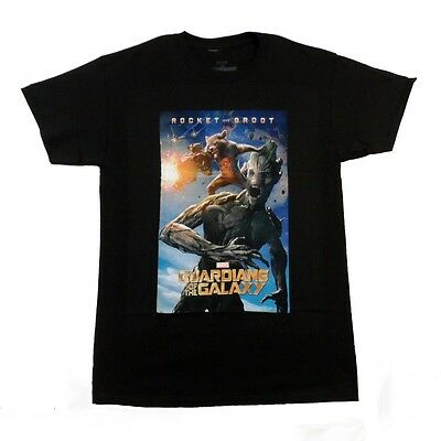 Guardians Of The Galaxy Movie Rocket & Groot Marvel Licensed Adult T-Shirt
