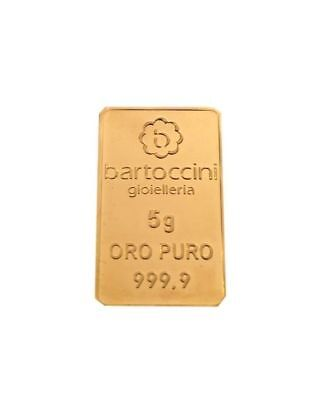 LINGOTTO IN ORO PURO Gr. 5 - investment gold - investment gold