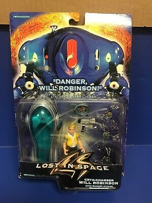 LOST IN SPACE Cryo-Chamber Will Robinson with Micro Spiders c/1997 NIP