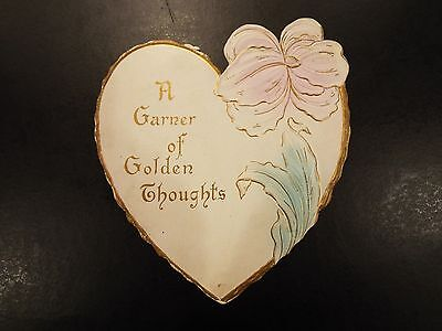 """A Garner of Golden Thoughts"" Victorian Greeting Card 1907"