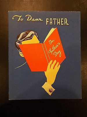 """To Dear Father"" Father's Day Card 1942"