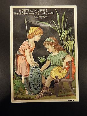 Metropolitan Life Insurance Co. Industrial or Burial Fund Victorian Trade Card