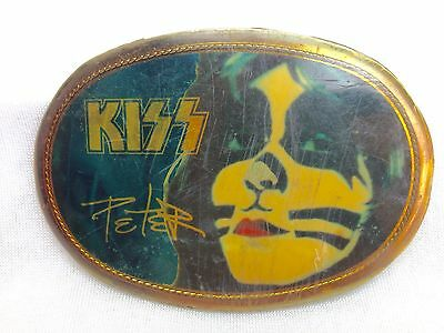 Kiss Belt Buckle Vintage 1977 Peter Criss • Aucoin Pacifica • Awesome!