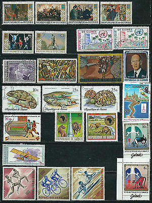 Guinea - 25 mixed stamps - Years 1963  to 1983....included  Airpost