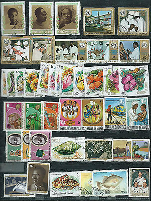 Guinea - 42 stamps - Years 1973  to 1980....included  Airpost & sets