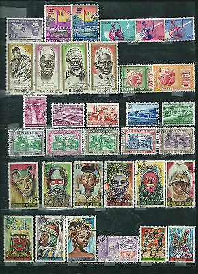 Guinea - 34 stamps mixed - Years 1959  to 1966...included sets