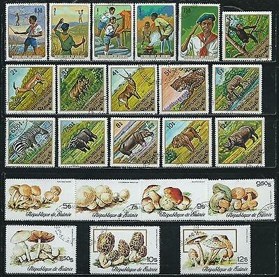 Guinea - 38 stamps mixed - Years 1974  to 1982...included Air Post