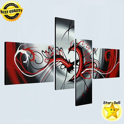 Wall Art 4 Panels Modern Abstract Painting Canvas Home Decorations Wall Decor