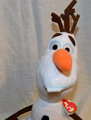 TY Beanie Buddy Disney's Frozen Olaf Stuffed Toy With Sven The Moose