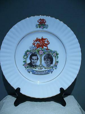 Queen Anne China Large Charles & Diana Commemorative Wedding Plate - England Vgc