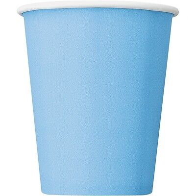 9oz Baby Blue Paper Cups, Pack Of 14