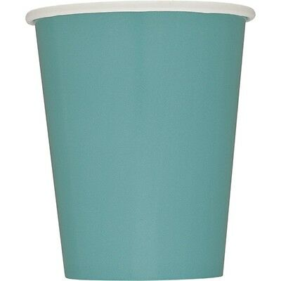 9oz Teal Paper Cups, Pack Of 14