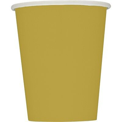 9oz Gold Paper Cups, Pack Of 14
