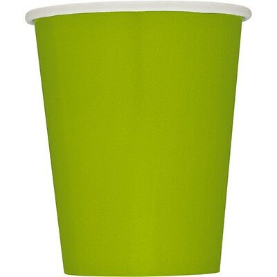 9oz Lime Green Paper Cups, Pack Of 14