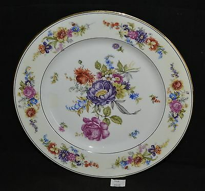 ThriftCHI ~ Schlaggenwald Czech Ceramic Floral Plate