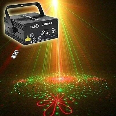Laser Light Show Projector Combo For Parties Home Party Machine Red Green 5 Lens