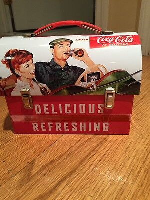 Tin Box Drink Coca-cola Delicious Refreshing Lunch Box 2011