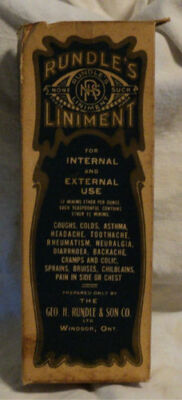 Vintage Rundle's None Such Liniment Windsor Ontario Original Empty Box