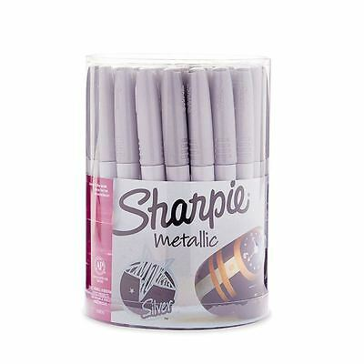 Sharpie Metallic Permanent Markers, Fine Point, Silver, 36 Pack