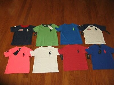 Ralph Lauren Boys Short Sleeve Big Pony Tee SIZE 2T/3T/4T/4/5 NWT