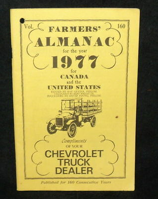 Farmers Almanac 1977 for Canada United States Compliments of Chevrolet