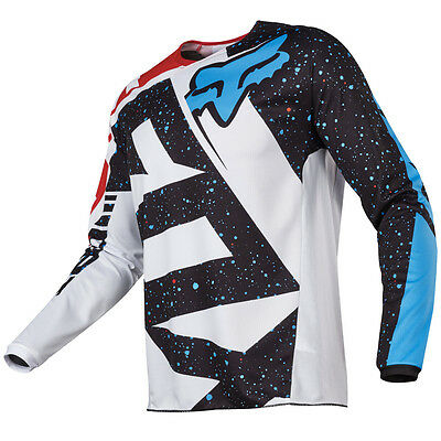 2017 Fox MX Youth 180 Jersey - Nirv Red/White Kids Motocross Offroad Peewee