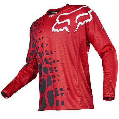 2017 Fox MX Mens 360 Jersey - Grav Red/Black Motocross Offroad Trail Enduro