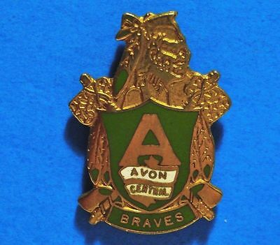 Braves - Avon Central High School - New York - Vintage Lapel Pin - Hat Pin